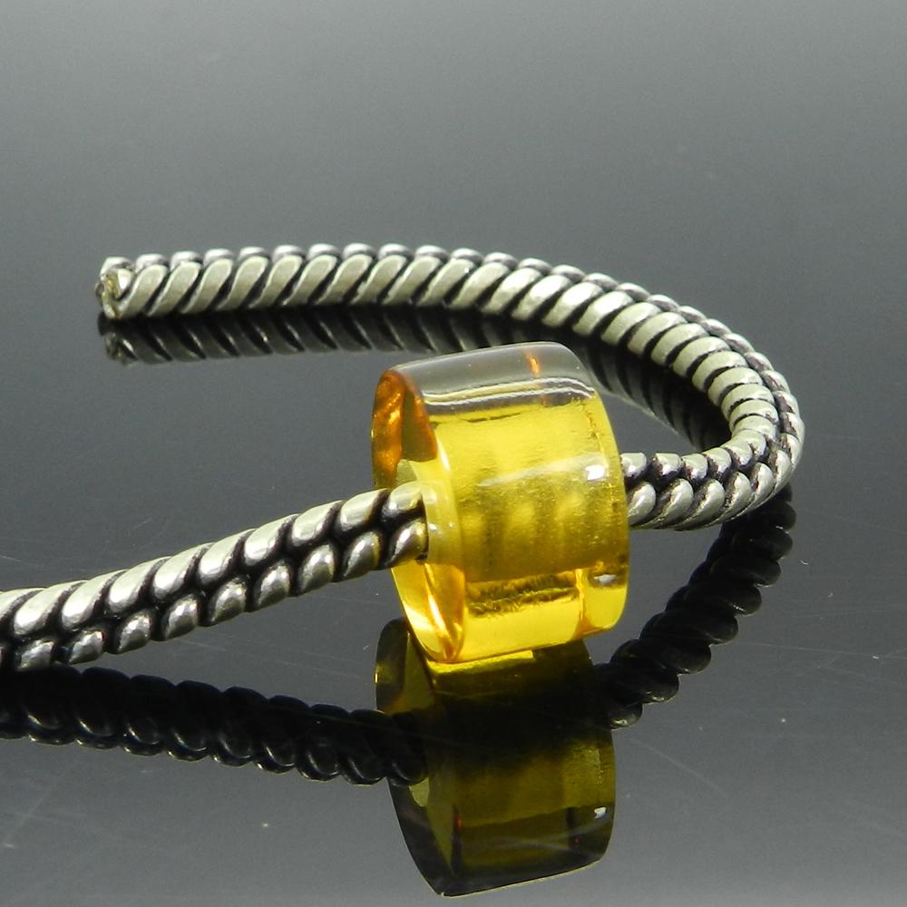 Citrine Hydro 14x8x4.5mm Round Flat Beads