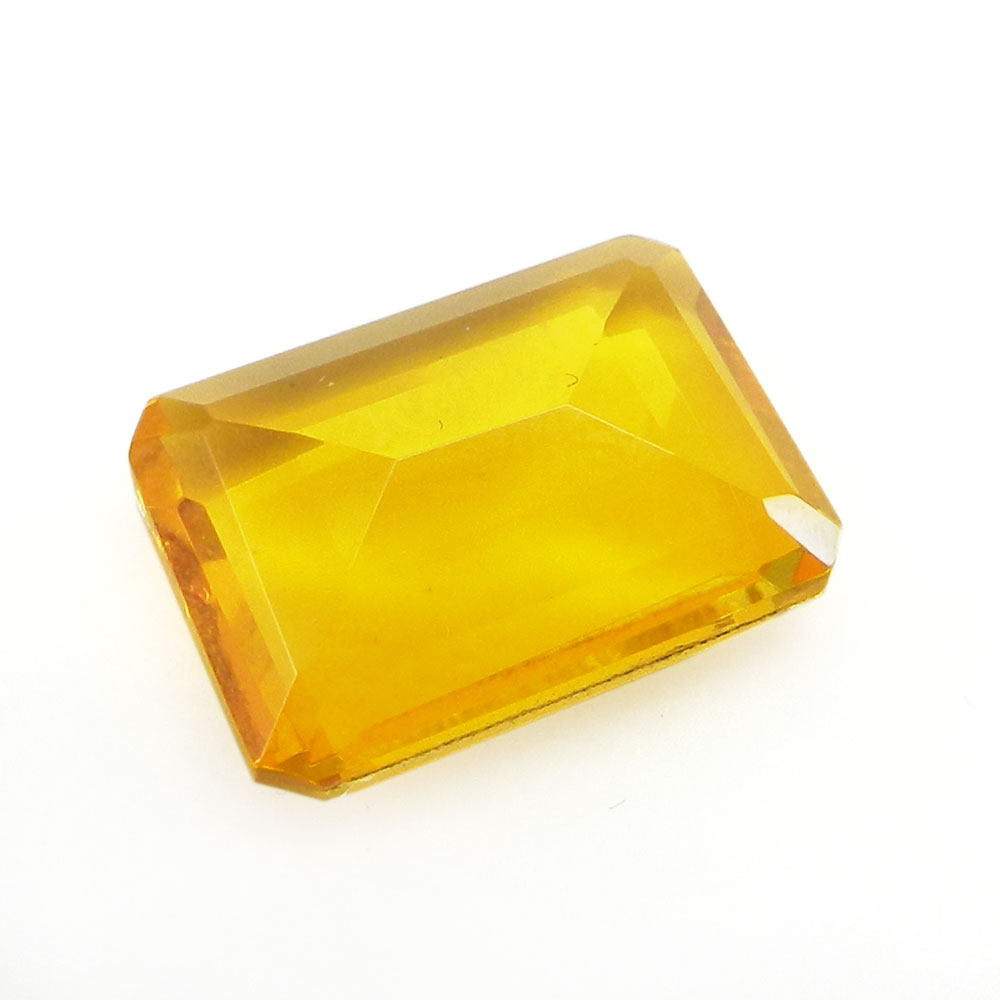 Crystal And Citrine Foil Doublet 15x11mm Rectangle Cut 7.8 Cts