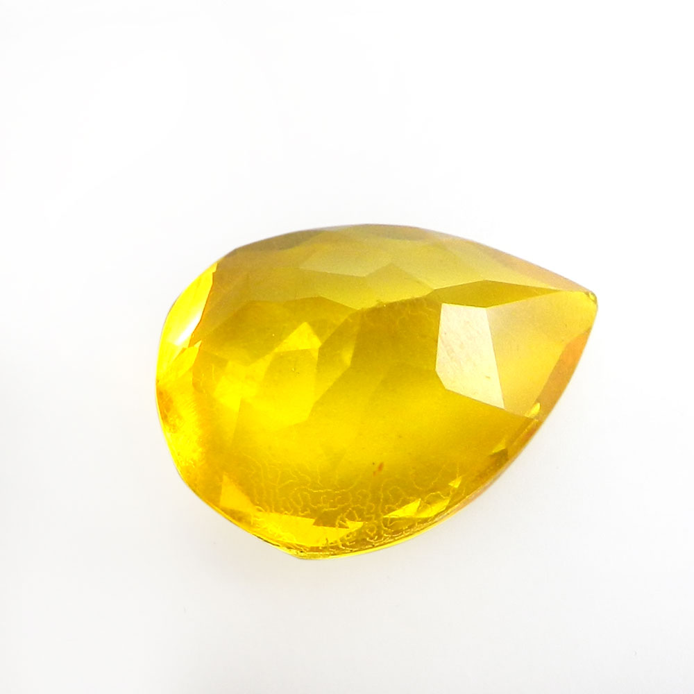 Crystal And Citrine Foil Doublet 16x12mm Pear Cut 8.4 Cts