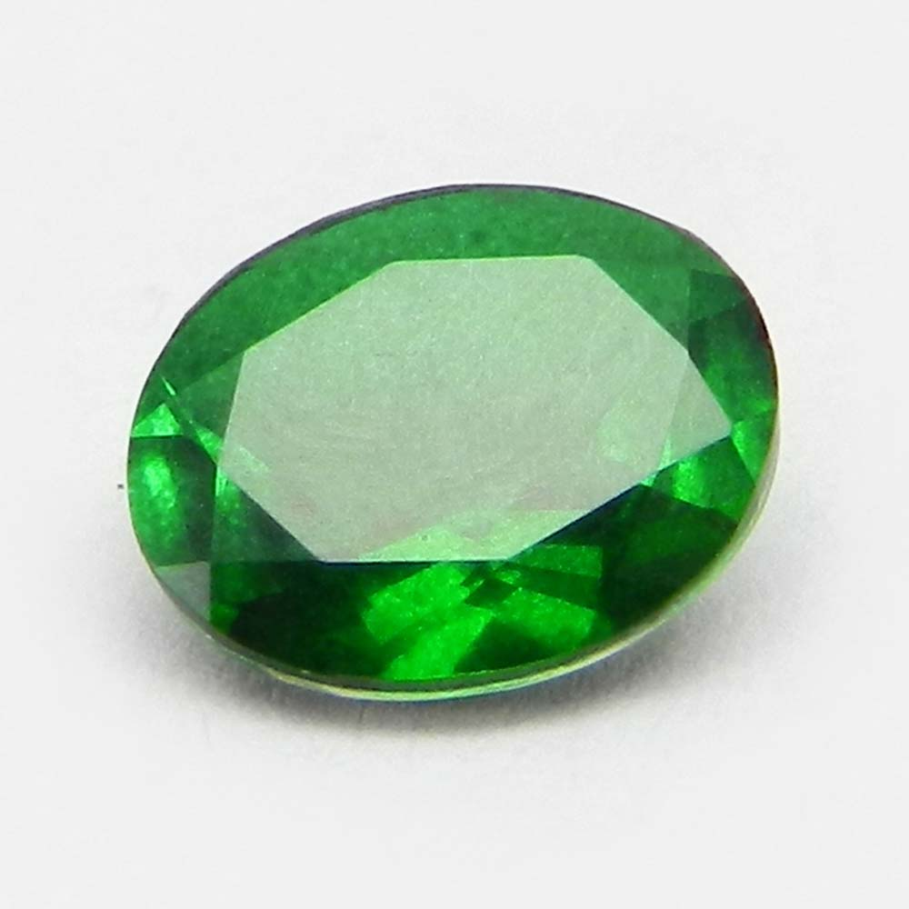Crystal And Emerald Doublet 11x9mm Oval Cut 2.9 Cts