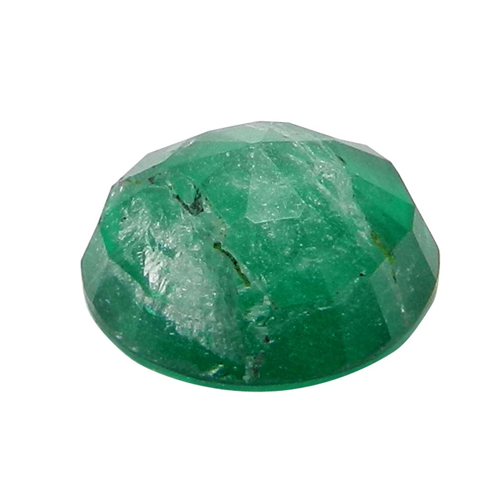 Crystal And Emerald Doublet 12mm Round Cut 5.8 Cts
