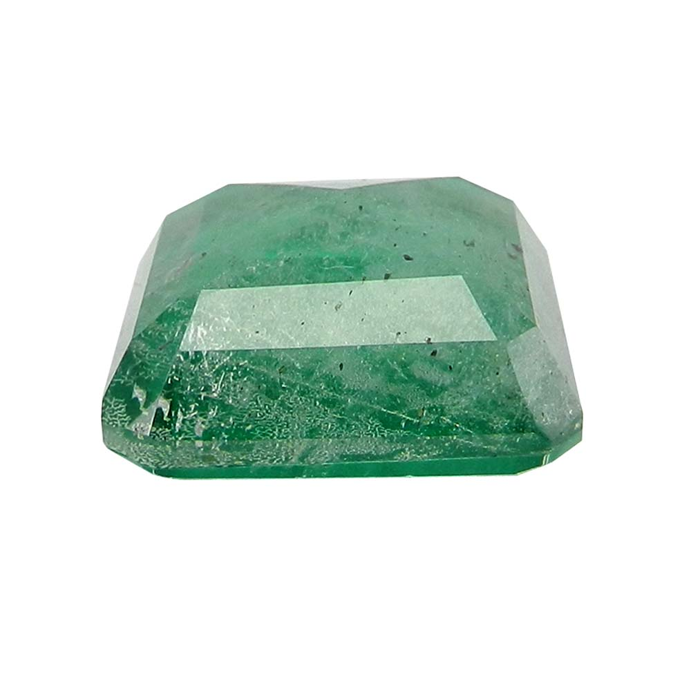 Crystal And Emerald Doublet 17x17mm Square Cut 15.1 Cts