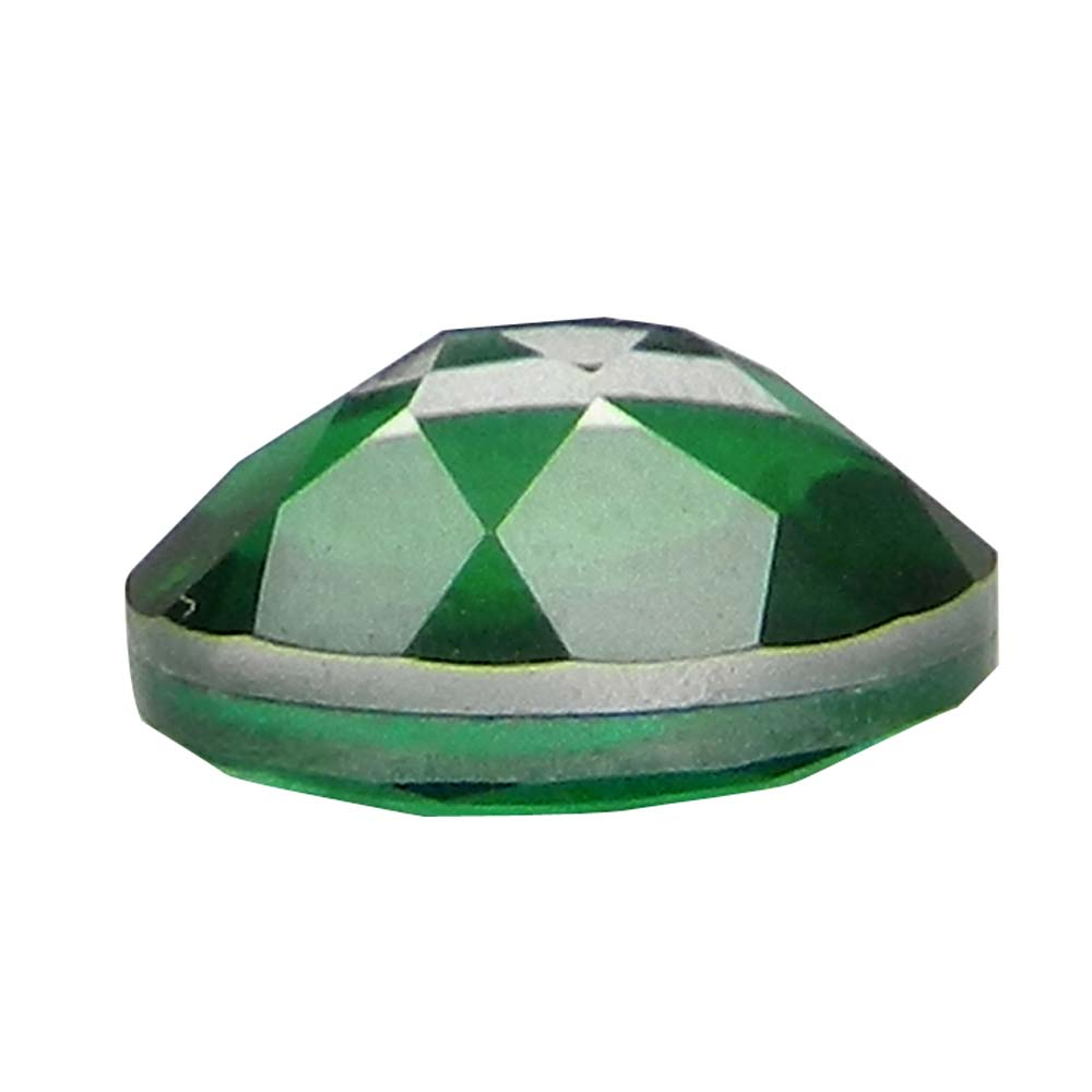 Crystal And Emerald Doublet 9x7mm Oval Cut 1.75 Cts