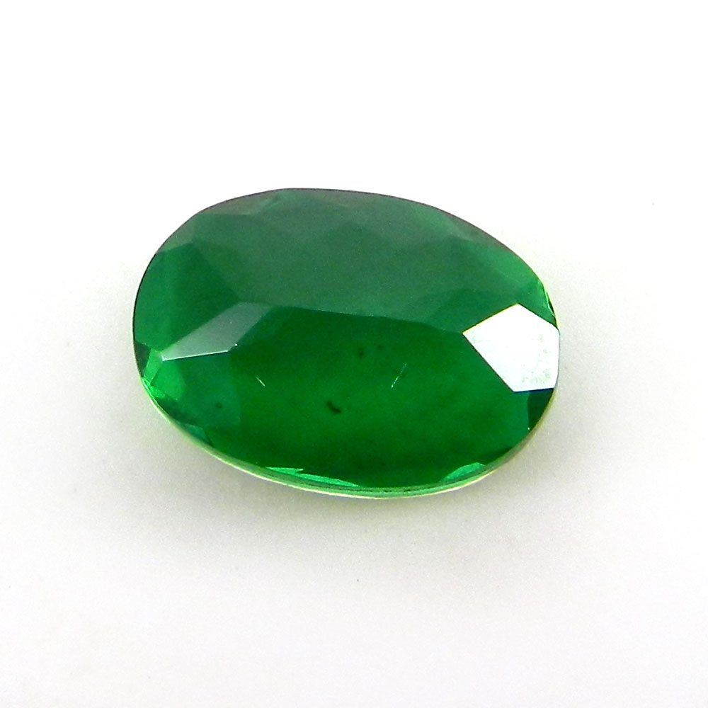 Crystal And Emerald Foil Doublet 14x10mm Oval Cut 5.4 Cts