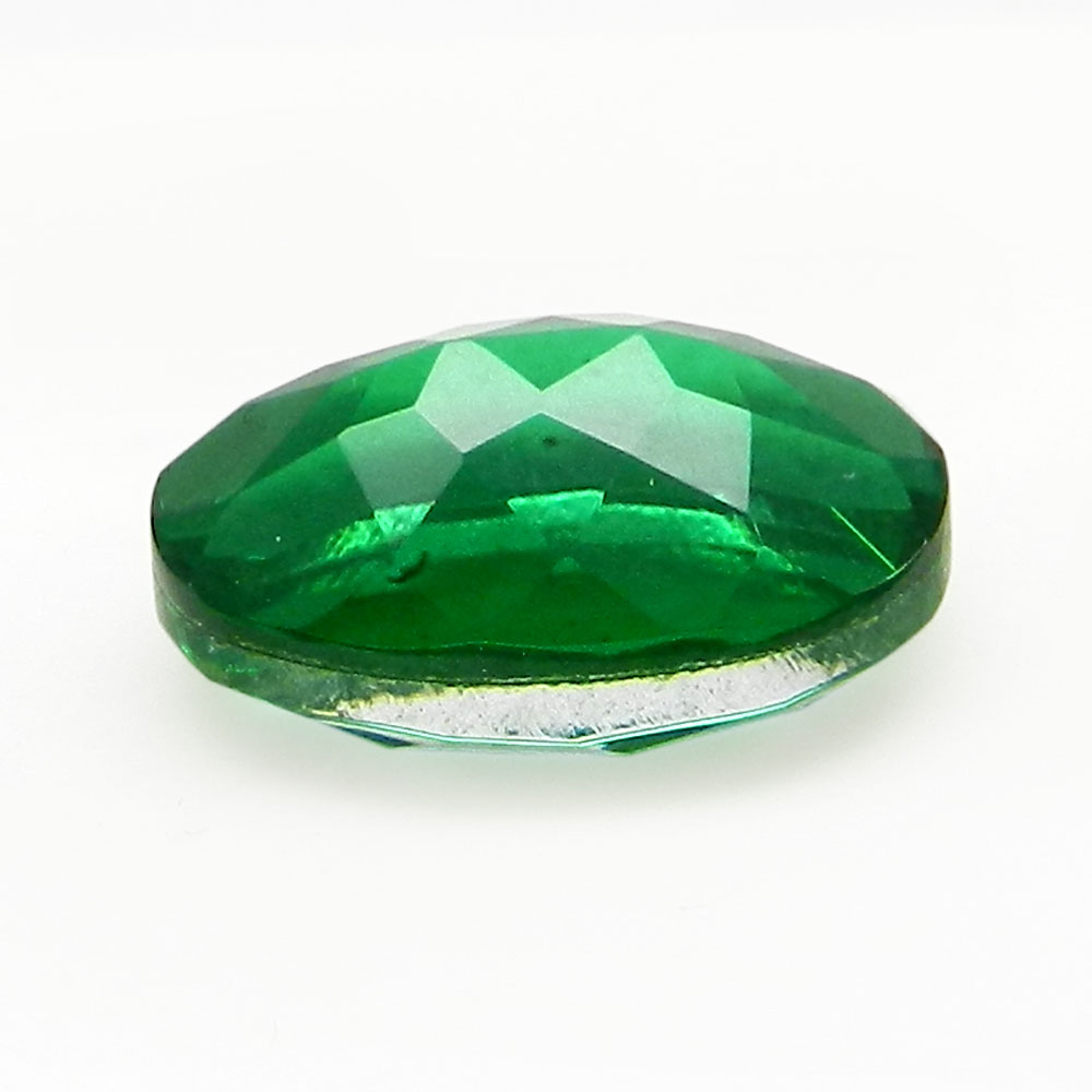 Crystal And Emerald Foil Doublet 14x10mm Oval Cut 5.9 Cts