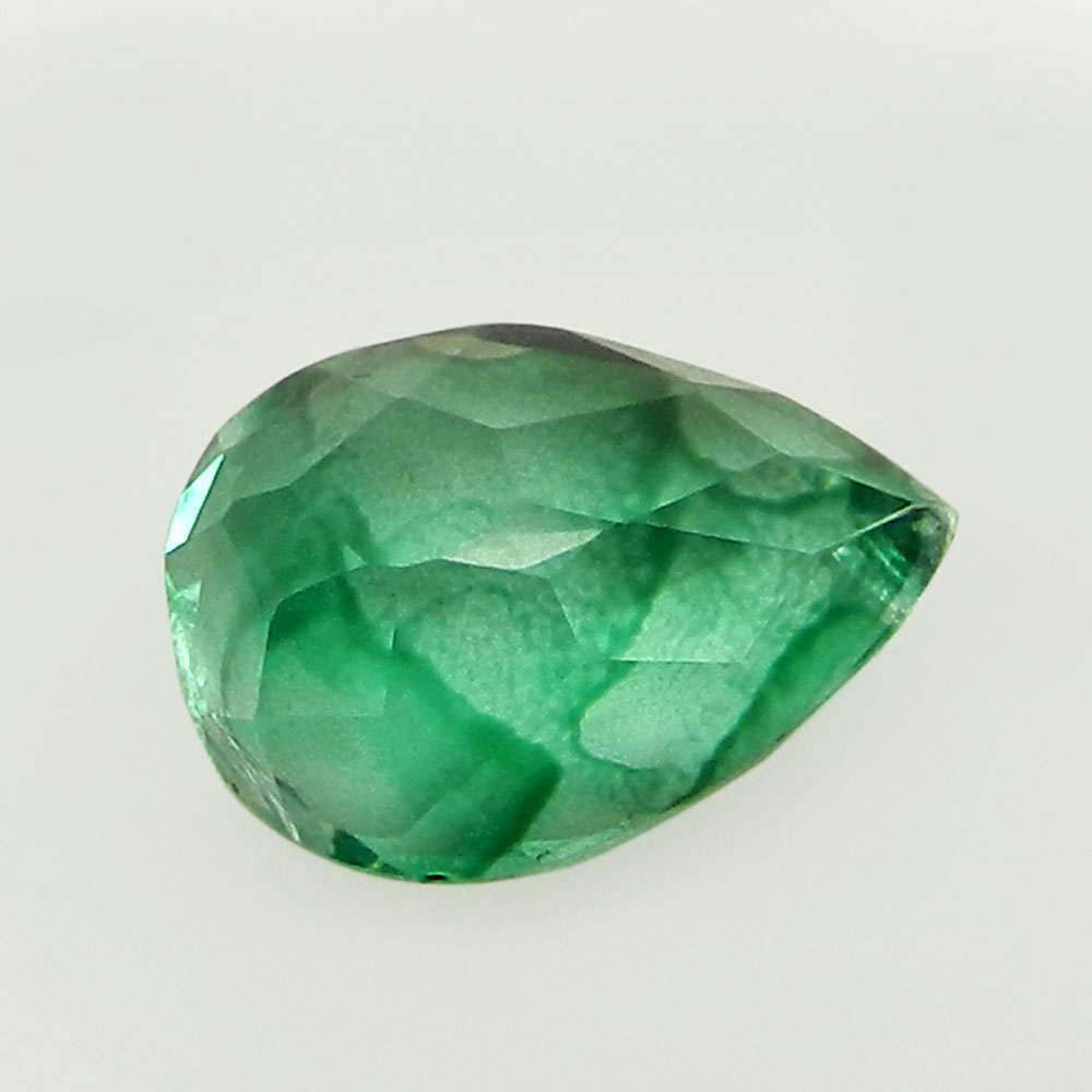Crystal And Emerald Foil Doublet 16x12mm Pear Cut 8.1 Cts