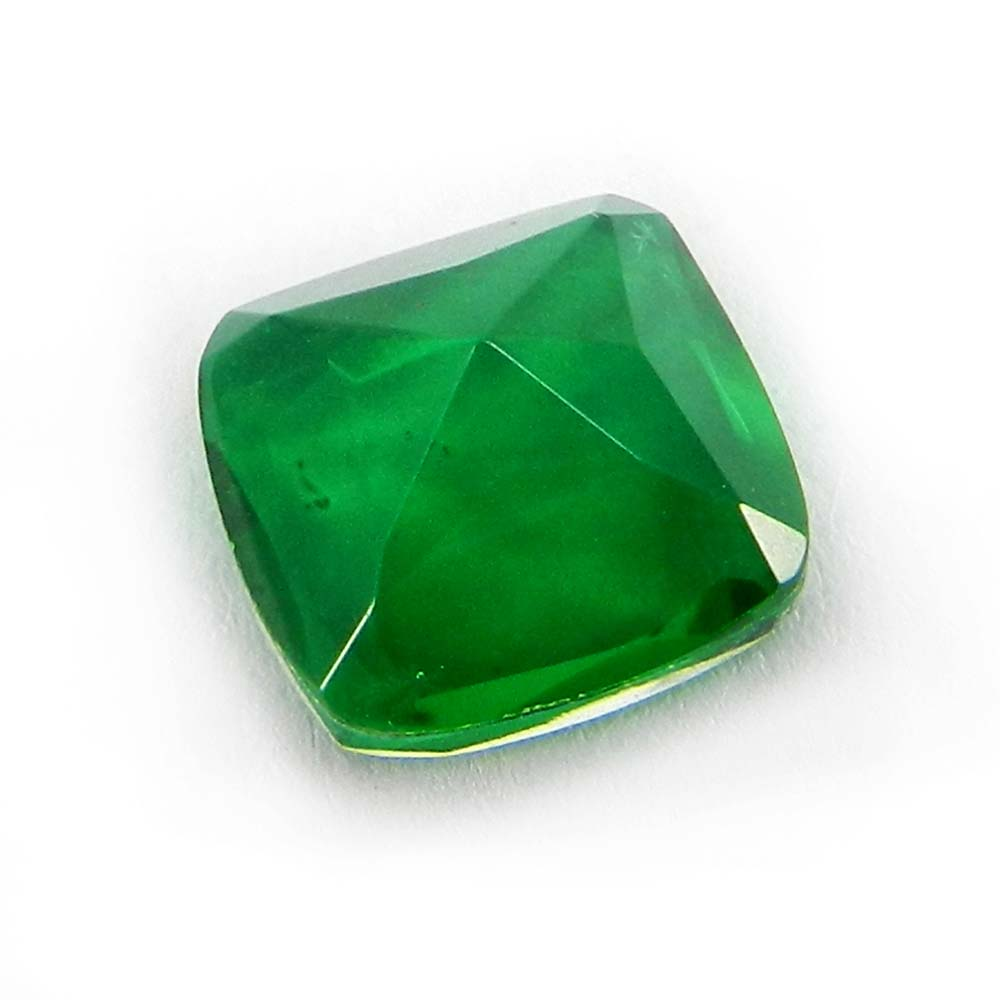 Crystal And Emerald Hydro Doublet 10x10mm Cushion Cut 3.55 Cts