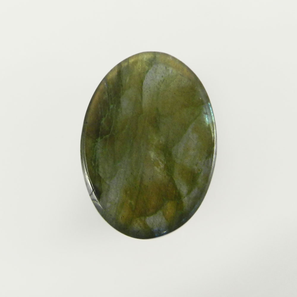 Crystal And Labradorite Doublet 18x13mm Oval Cabochon 13.4 Cts
