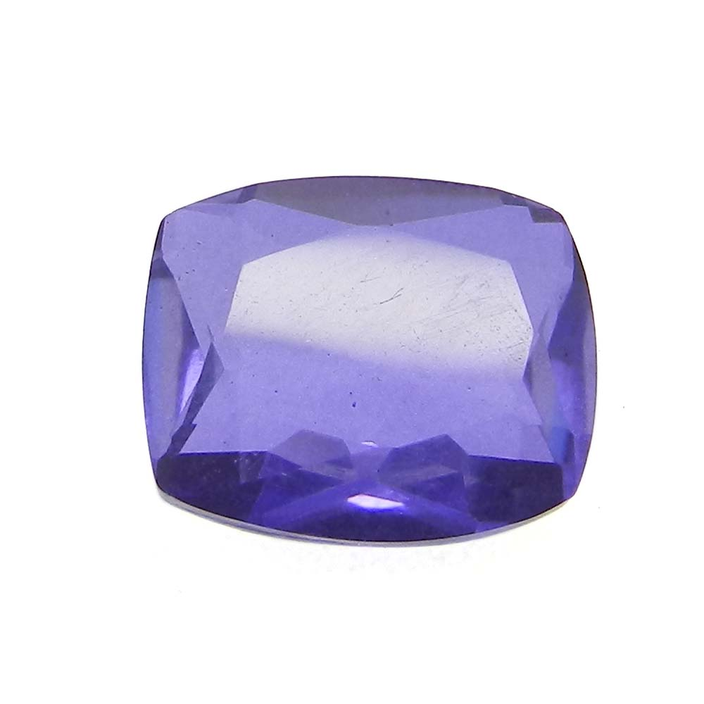 Crystal And Lavender Foil Doublet 12x10mm Rectangle Cut 4.6 Cts