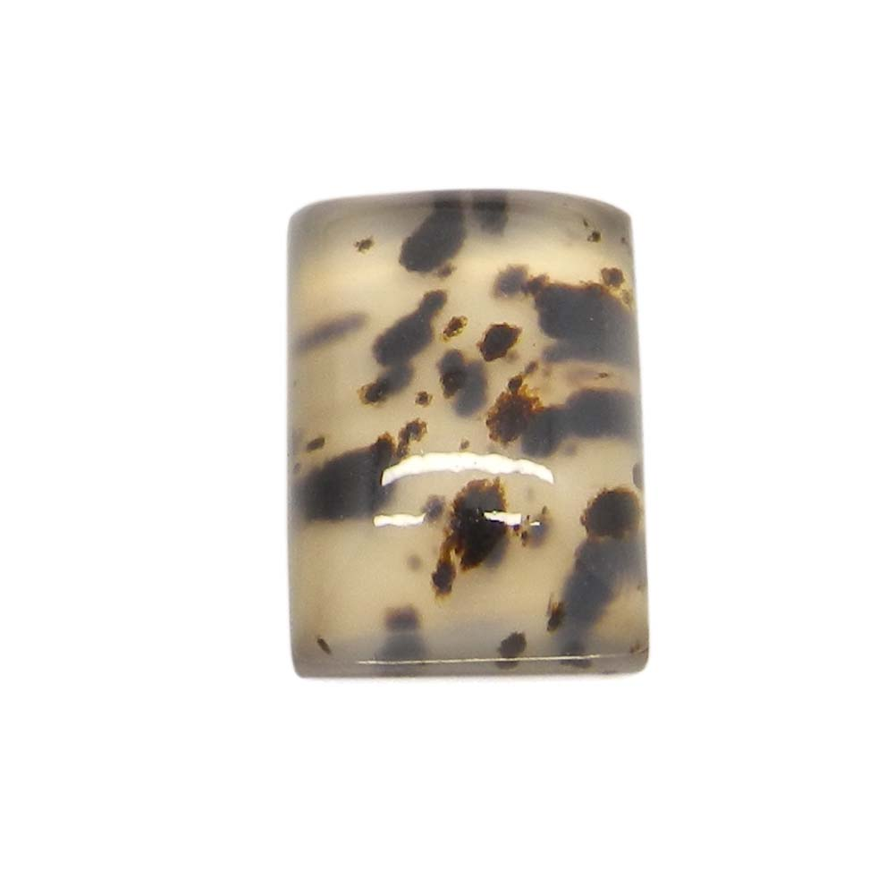 Crystal and Montana Agate 14x10mm Rectangle Cab Doublet 8.5 Cts