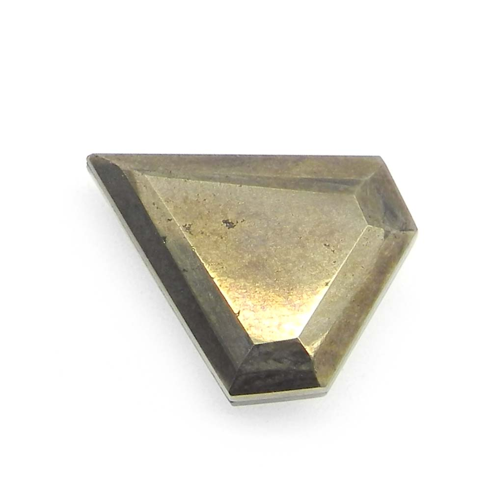 Crystal and Pyrite Foil Doublet 20x18mm Shield Cut 14.20 Cts