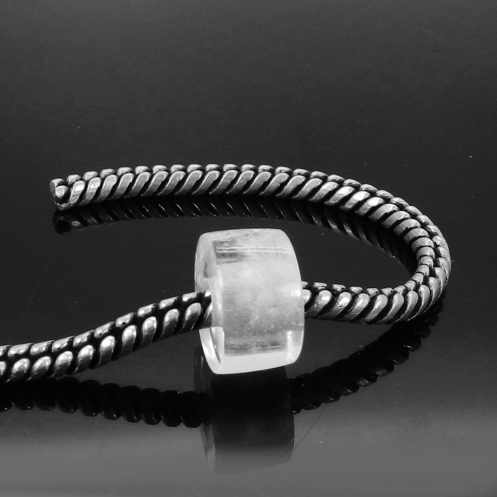 Crystal Quartz 14x8x4.5mm Round Flat Beads