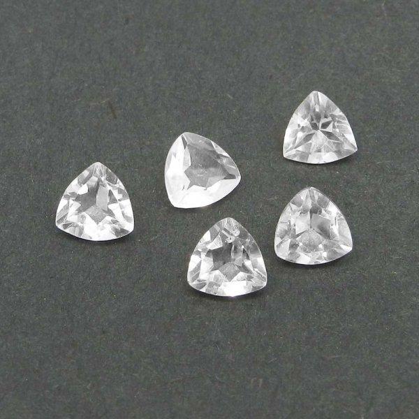Crystal Quartz 7x7mm Trillion Cut 1.20 Cts