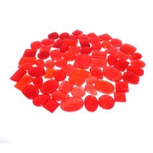 Dark Orange Jade Mix Shape Cabochon 100 Gram Wholesale Lot