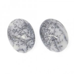 Dendritic Opal 16x12mm Oval Cabochon 9.2 Cts