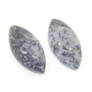 Dendritic Opal 20x10mm Marquise Cabochon 7.1 Cts