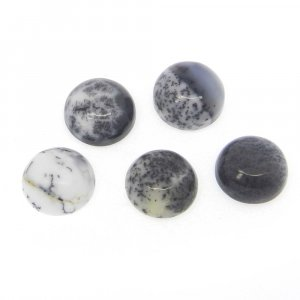 Dendritic Opal 9mm Round Cabochon 2.3 Cts