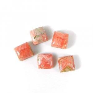 Elegant Gemstone Rhodochrosite 7x7mm Square Cabochon 3.15 Cts