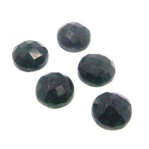Emerald Corundum 10mm Round Checkerboard Cut 5.8 Cts