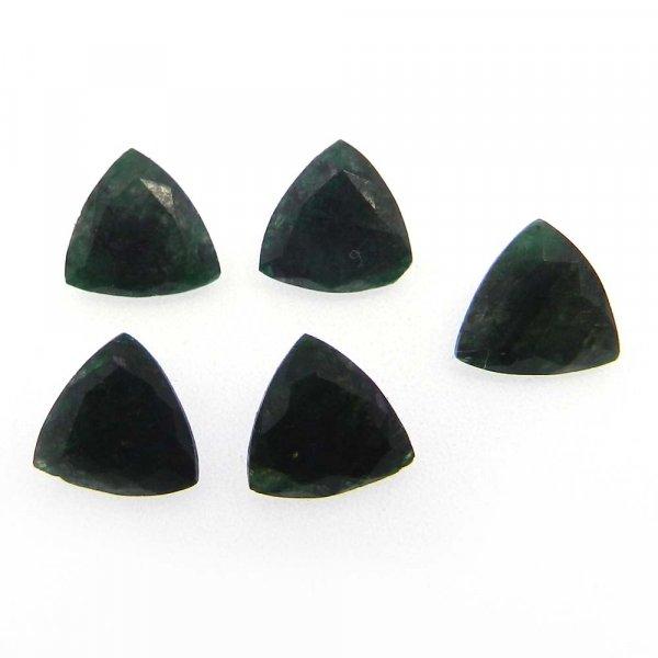 Emerald Corundum 10x10mm Trillion Cut 2.27 Cts