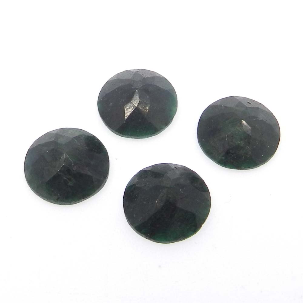 Emerald Corundum 16mm Round Cut 9.3 Cts