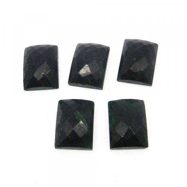 Emerald Corundum 18x13mm Rectangle Checker Cut 22.4 Cts