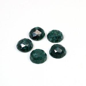 Emerald Corundum 26.15 Cts Round Rose Cut 10mm 5 Pcs Lot Loose Gemstone