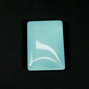 Exclusive Aqua Chalcedony 31x22mm Rectangle Cabochon 42.65 Cts