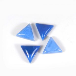 Exclusive Blue Opal Gemstone 14x14mm Triangle Cabochon 5.85 Cts
