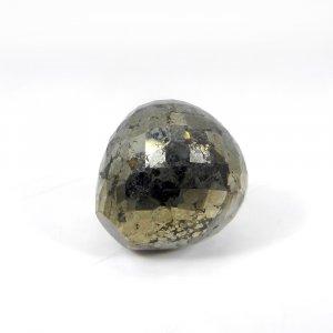 Exclusive Gemstone Golden Pyrite Onion Checker Cut 16mm Round 36.75 Cts