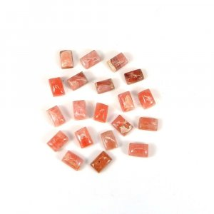 Exclusive Gemstone Rhodochrosite 6x4mm Rectangle Cabochon 0.85 Cts