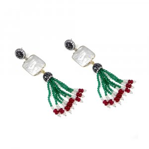 Factory Wholesale Biwa Pearl Gold Plated Designer Beaded Earring