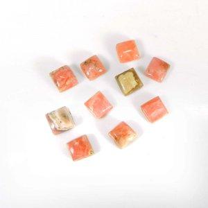 Factory wholesale Rhodochrosite Gemstone 5x5mm Square Cabochon 1.00 Cts