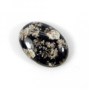 Fire Work Obsidian 15x10mm Oval Cabochon 4.75 Cts