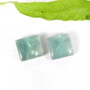 Fluorite 11x11mm Square Cabochon 9.20 Cts