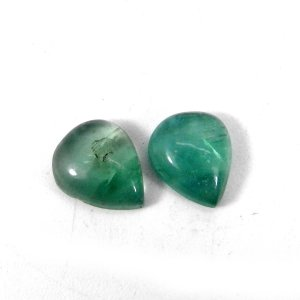 Fluorite 12x10mm Pear Cabochon 4.90 Cts
