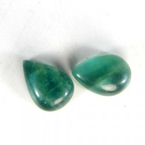 Fluorite 14x10mm Pear Cabochon 5.10 Cts