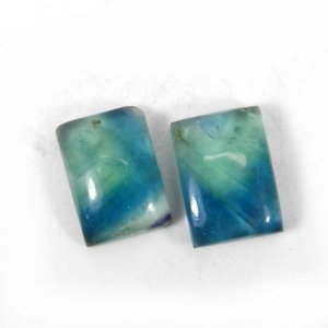 Fluorite 14x10mm Rectangle Cabochon 6.95 Cts
