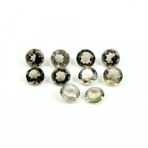 Gemuine Smoky Quartz Gemstone Round Faceted 5x5mm 0.46 Cts