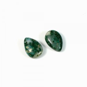 Genuine 1 Pair Chrysocolla Gemstone Pear Cabochon 10x14mm 9.10 Cts