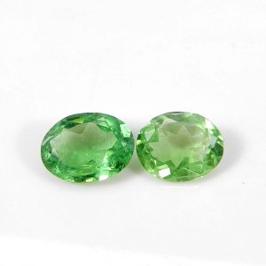 Genuine Tsavorite 8.5x7mm Oval Faceted Cut 1.40 Cts
