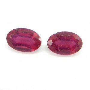 Glass Filled Ruby 4x6mm Oval Cut 0.6 Cts