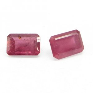 Glass Filled Ruby 6x4mm Octagon Cut 0.8 Cts