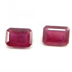 Glass Filled Ruby 7x5mm Octagon Cut 1.3 Cts