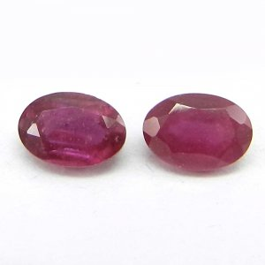 Glass Filled Ruby 7x5mm Oval Cut 0.95 Cts