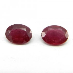 Glass Filled Ruby 8x6mm Oval Cut 1.3 Cts