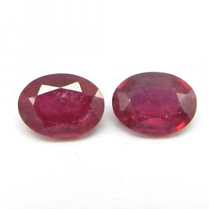 Glass Filled Ruby 8x6mm Oval Cut 1.6 Cts