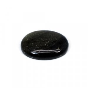 Gold Sheen Obsidian Oval Cabochon 32 Cts 29x21mm Loose Gemstone