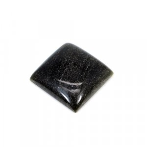 Gold Sheen Obsidian Square Cabochon 18.45 Cts 18x18mm Loose Gemstone