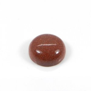 Gold Sunstone 14mm Round Cabochon 9.70 Cts